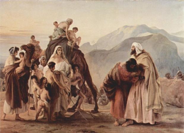 יצחק מברך את יעקב