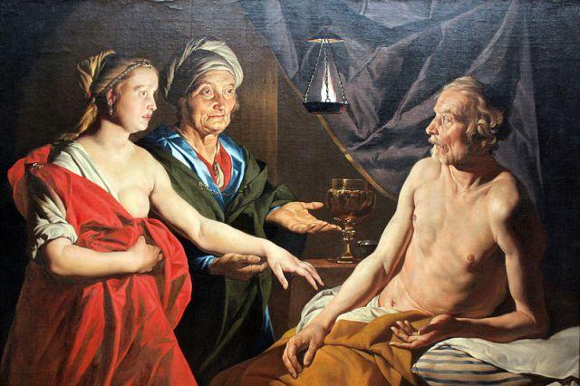 שרה נותנת את הגר לאברהם. מתיאס סטום, 1638