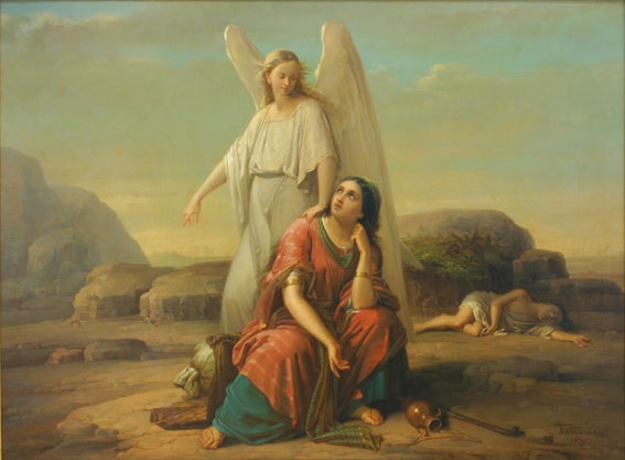 הגר והמלאכ(ית). גיאורג טטרסקו, 1870